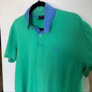 Boss Regular Fit Green Embroidered Polo